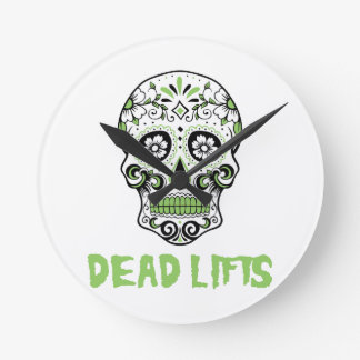 Dead Lifts Round Clock