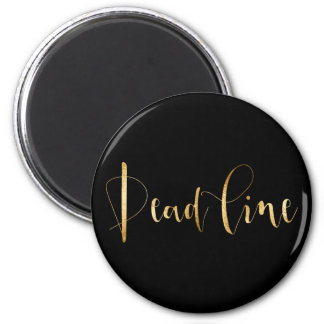 Dead Line Time Management Planner Black Gold Magnet