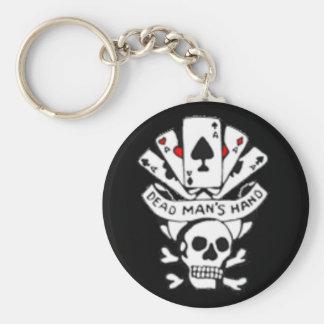 Dead Mans Hand Basic Round Button Keychain