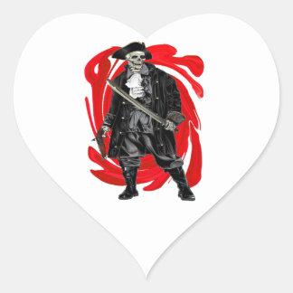 Dead Men Tell No Tales Heart Sticker