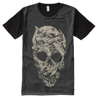Dead Men Tell No Tales Skull All-Over-Print T-Shirt