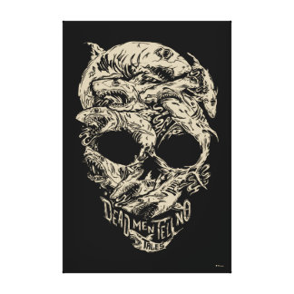 Dead Men Tell No Tales Skull Canvas Print