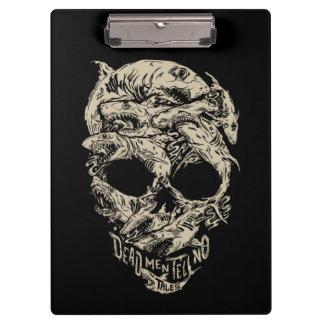 Dead Men Tell No Tales Skull Clipboard