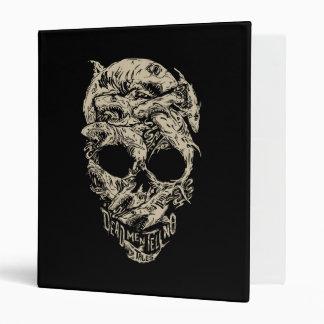 Dead Men Tell No Tales Skull Vinyl Binder