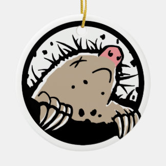 Dead Mole Christmas Ornament