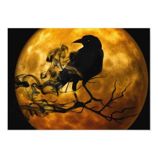 Dead moon crow card