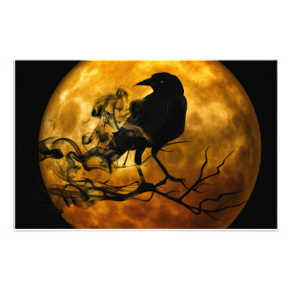 Dead moon crow customized stationery