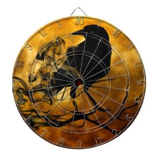 Dead moon crow dartboard