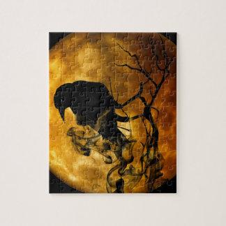Dead moon crow jigsaw puzzle