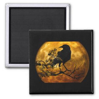 Dead moon crow magnet