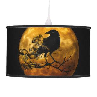 Dead moon crow pendant lamp