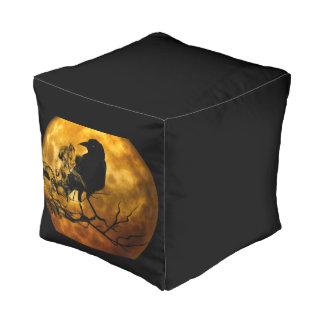Dead moon crow pouf
