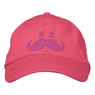 Dead Mustache PINK Embroidered Baseball Caps