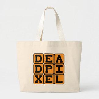 Dead Pixel Burned Out Image Canvas Bags