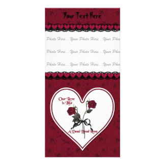 Dead Red Rose Photo Card Template