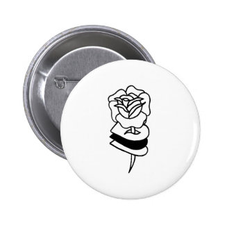 Dead // Roses Badge. 2 Inch Round Button