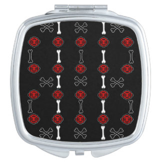 Dead Roses (Black w/ Red) Travel Mirror