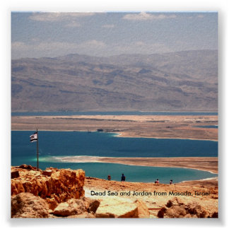 Dead Sea and Jordan from Masada, ... Poster