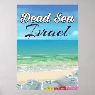 Dead Sea Israel travel poster