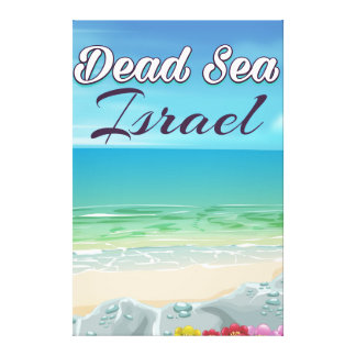 Dead Sea Israel travel poster Canvas Print