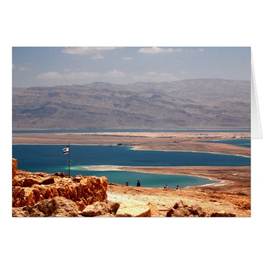 Dead Sea Post Card viewed from Masada