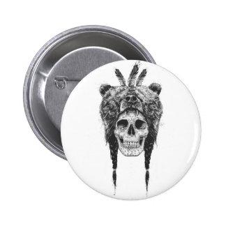 Dead shaman (b&w) 2 inch round button