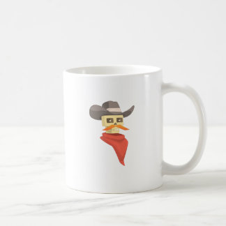 Dead Sheriff Head And Star Pin Drawing Isolated On Coffee Mug