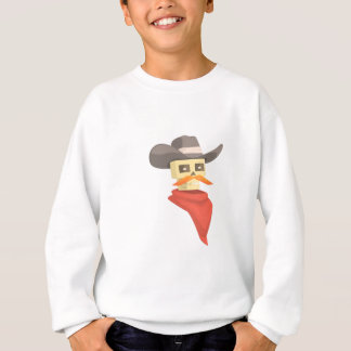 Dead Sheriff Head And Star Pin Drawing Isolated On Sweatshirt