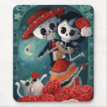 Dead Skeleton Mexican Lovers Mousepads
