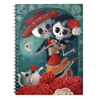 Dead Skeleton Mexican Lovers Note Book