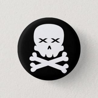 Dead Skull 1 Inch Round Button
