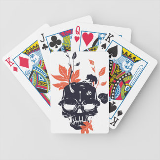 dead skull and bear bicycle playing cards