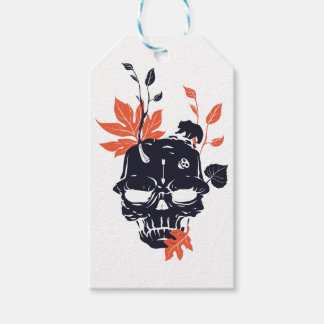 dead skull and bear gift tags