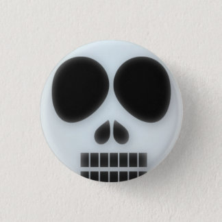 Dead skull halloween button