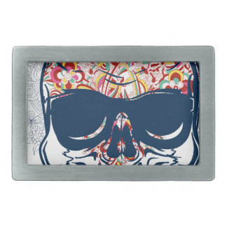 dead skull zombie colored design belt buckle