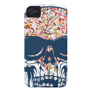 dead skull zombie colored design Case-Mate iPhone 4 case