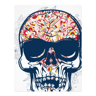 dead skull zombie colored design letterhead