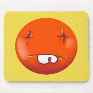 dead smiley face funny cartoon mouse pad
