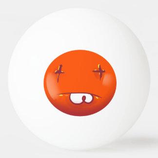 dead smiley face funny cartoon Ping-Pong ball