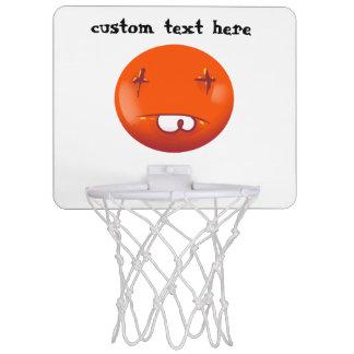 dead smiley face funny handdrawn cartoon mini basketball backboard