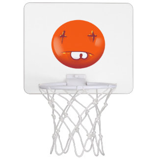 dead smiley face funny handdrawn cartoon mini basketball hoop