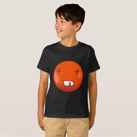 dead smiley face funny handdrawn cartoon T-Shirt