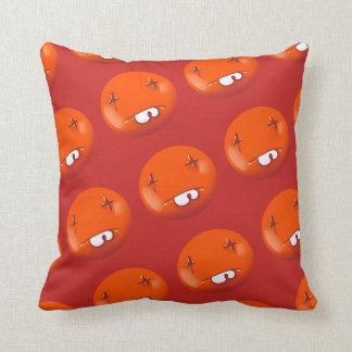 dead smiley face funny handdrawn cartoon throw pillow