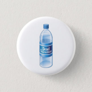 Dead Snowman Melted Bottled Water 1 Inch Round Button