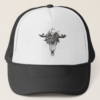 Dead summer (blackandwhite) trucker hat