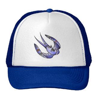 dead tattooed traditional bluebird trucker hat