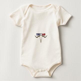 dead texas longhorn baby bodysuit