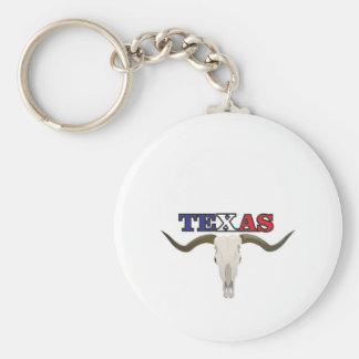 dead texas longhorn keychain