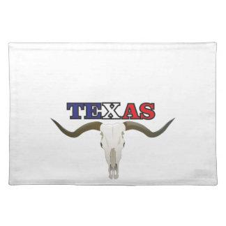 dead texas longhorn placemat