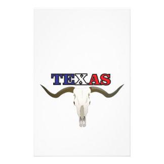 dead texas longhorn stationery